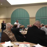 Brother Claude Boisvert speaks at the conference