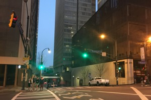 Downtown Atlanta on Peachtree Street