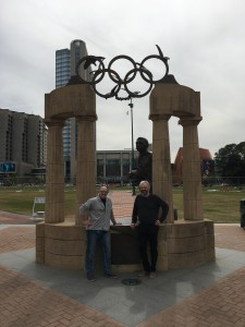 Fred and Stephane at the Atlanta Olympic Park